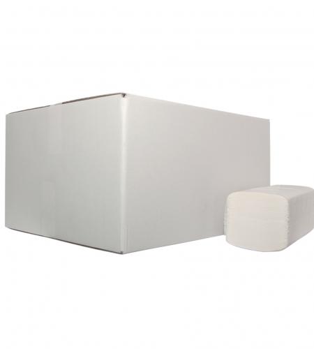Handdoekje Z-vouw wit 2lg 20x160st